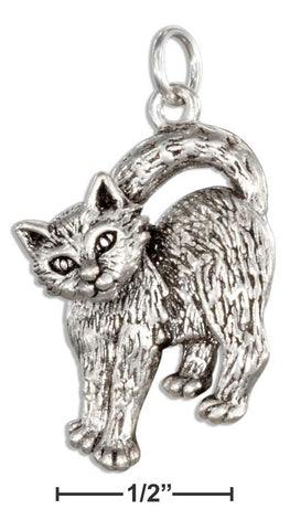 Sterling Silver Cat Charm With Movable Head