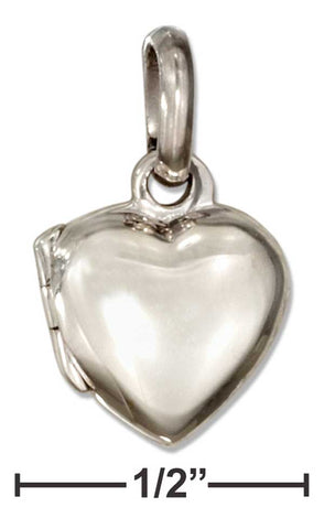 Sterling Silver Tiny High Polish Heart Locket