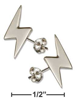 sterling silver mini lightning bolt post earrings