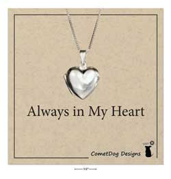"sterling silver 18"" small high polish heart locket necklace"