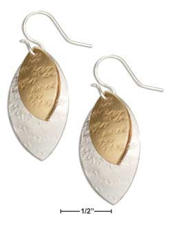 Sterling silver and 12 Karat gold filled double leaf shape dangles