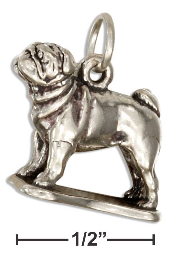 Sterling Silver Three Dimensional Pug Charm Allens Online Warehouse