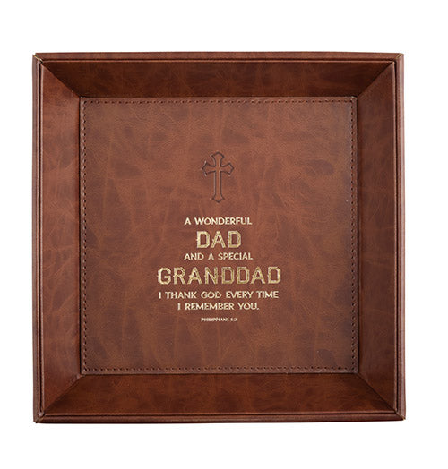 Just For Him - Granddad Philippians 1:3 - Valet Tray