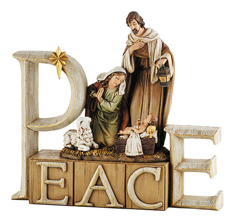 Peace Nativity Decor