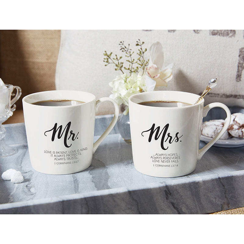 Bone China Mr. & Mrs Mug 14oz each