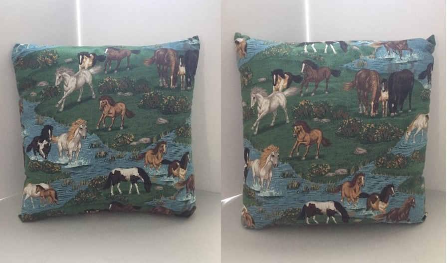 Horses in nature decorative throw pillow