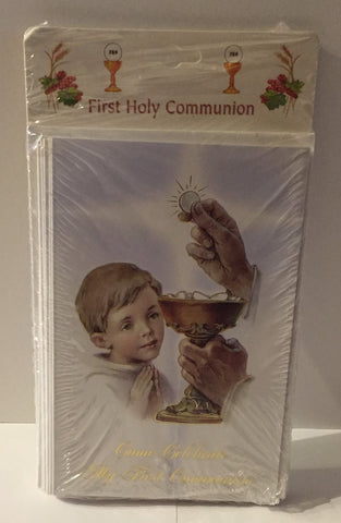 Invite set of 8 First Holy Communion, Boy
