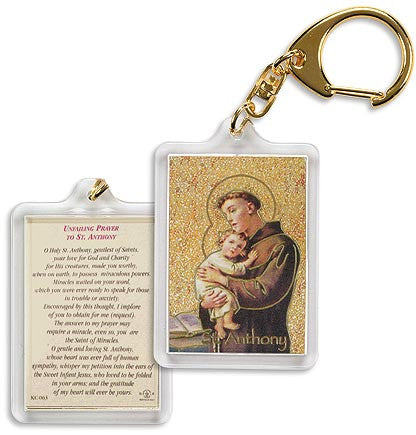 Prayer to St. Anthony key chain (4 pc set)