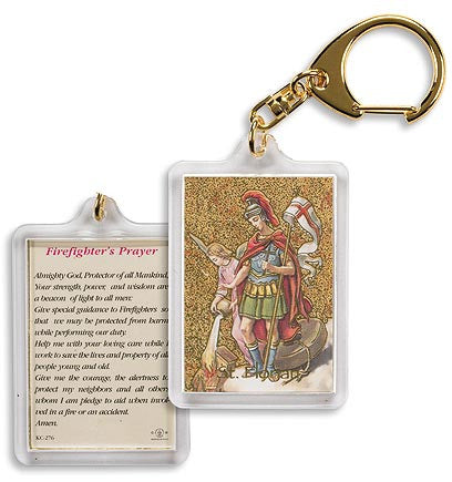 Saint Florian/ Firefighter's Prayer Key Chain (4 PC Set)
