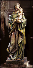 "48"" Saint Joseph with child statue"