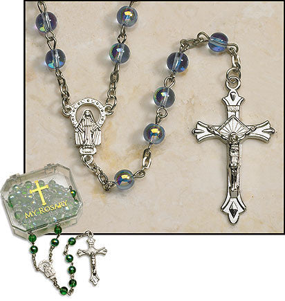 Sapphire Rosaries (4 in set)