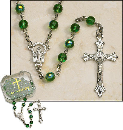 Emerald Rosaries (4 in set)