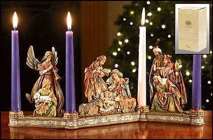Avalon Gallery - Nativity candleholder