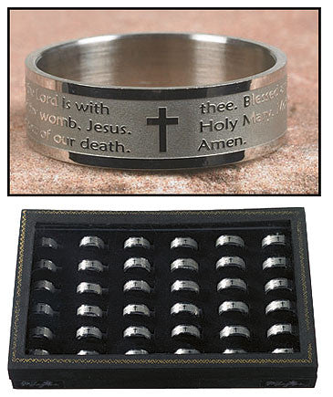 Engraved Hail Mary Ring