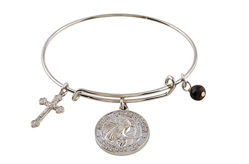 Be Blessed Bangle Bracelet - St. Christopher