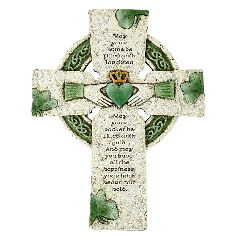 Irish Cross with blessing