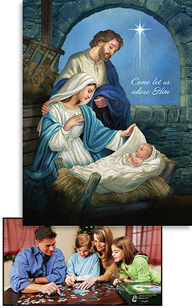 Come Let Us Adore Him Jigsaw Puzzle Set