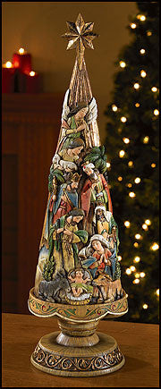 "21"" Nativity Christmas tree figurine"