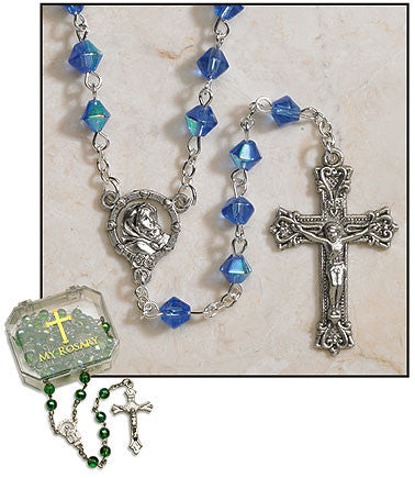 "Sapphire Rosaries 20.5"" (4 in set)"