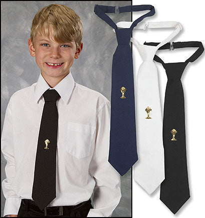 First Communion Adjustable Ties with Tie Tack