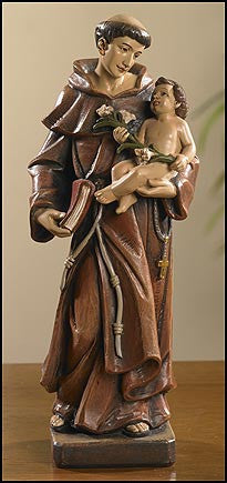 "8"" Saint Anthony statue"