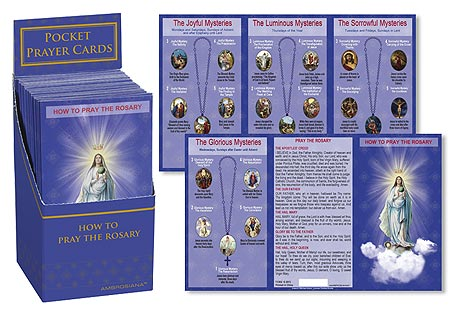 How To Pray The Rosary Pocket Card