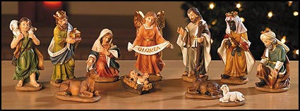 "3.5"" H 11-pc Nativity Set"