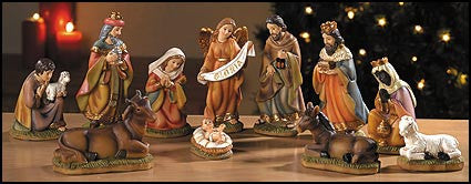 "4.5"" H 11-pc Nativity Set"