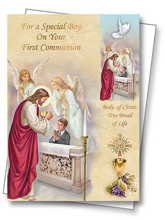 Greeting Card with Envelope for First Communion