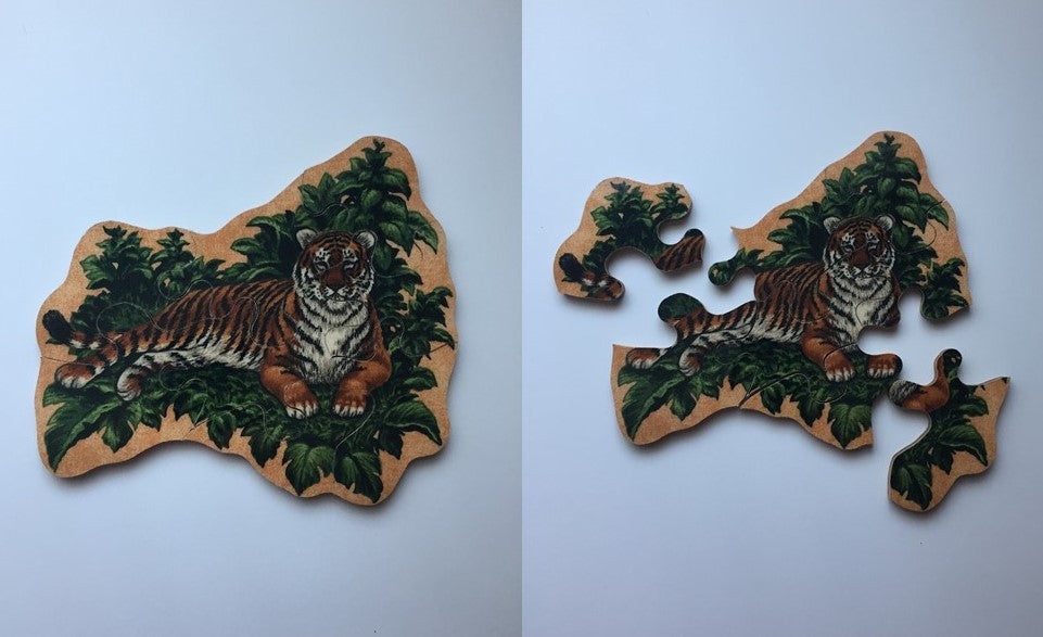 Lounging Tiger Wooden Puzzle
