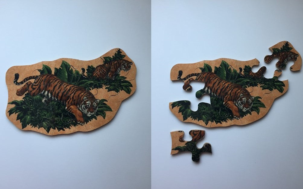 Two Tigers Wooden Puzzle