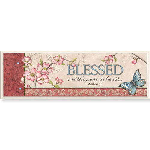 "Blessed Are The Pure In Heart - 8.5"" X 2.75"" Tabletop Plaque"