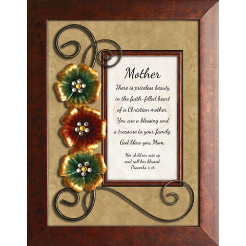 "Mother - Proverbs 31:28 - 7"" x9"" Framed Tabletop"