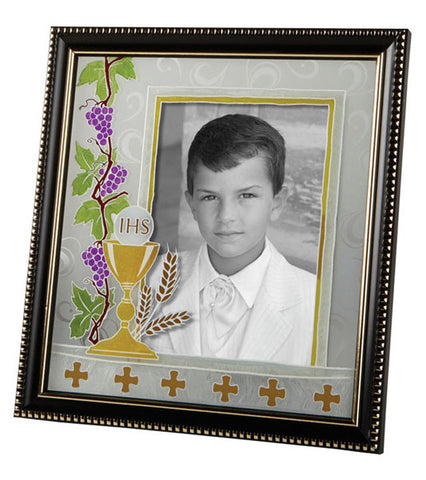 First Communion frame black