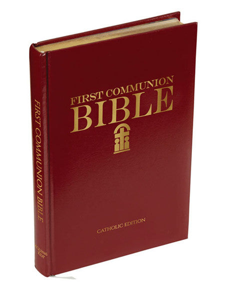 Burgundy leatherette First Communion Bible (4 book set)