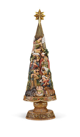 "30"" Nativity Christmas tree"