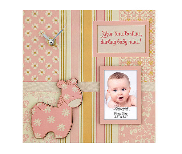 Darling Baby- Baby Photo/Clock Frame- Baby Girl