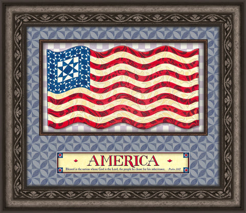Jim Shore- God Bless America- Wall Art
