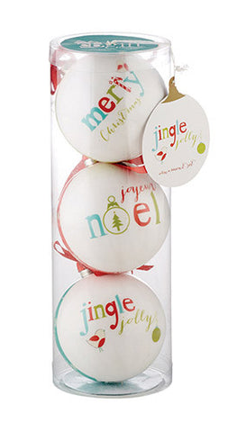 Jingle Jolly Decoupage Ornaments - Set of 12 ornaments