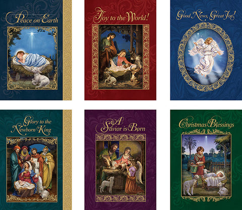 God's Gift Of Love Christmas Cards With Envelope (6 Asst) - 24 Cards/Bx