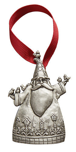 Jim Shore pewter ornament-Home to Roost Santa