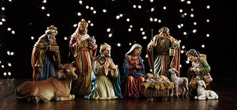 "5"" Michael Adams 9 pc Nativity set"