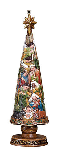 "Nativity Christmas tree 5"" ornament"