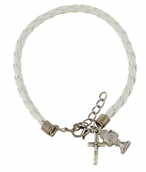 Braided First Communion Bracelet