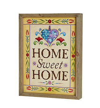 Jim Shore- Home Sweet Home- Framed Print