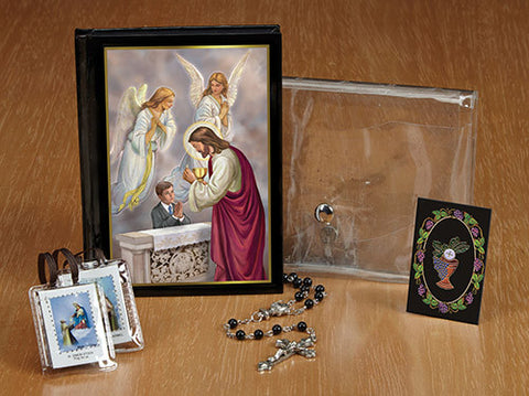 Blessed Sacraments First Communion Wallet Set-Boy