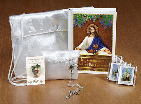 My Body, My Blood First Communion Satin Purse Set