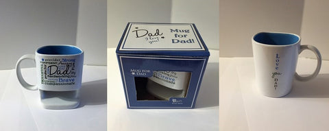 "Word art mug ""Dad"" with cookie holder"