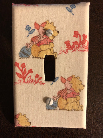 Winnie the Pooh wall light switch plate cover