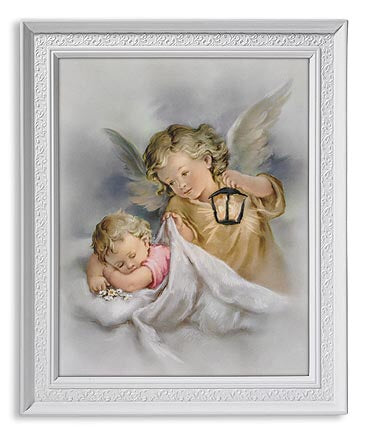 Guardian Angel With Lamp Print 8 x 10